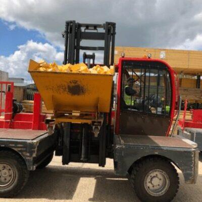 Forklift Transporting